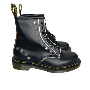 Dr. Martens 1460 Studded 8 Eye Lace Up Combat Boots